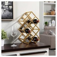 Danya B™ Sparkling 9 Wine Bottle Rack Gold
