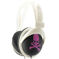 Black-And Pink-Skull-And-Bones-Headphones