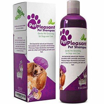 Natural Pet Shampoo For Dogs & Cats - Moisturizing And Deodorizing Formula With Lavender & Evening Primrose Oil - Pet Grooming Skin & Hair Care For Dry Itchy Irritated Skin - Vitamin Rich Cleanser
