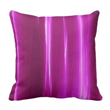 Hot Pink Flash Throw pillow