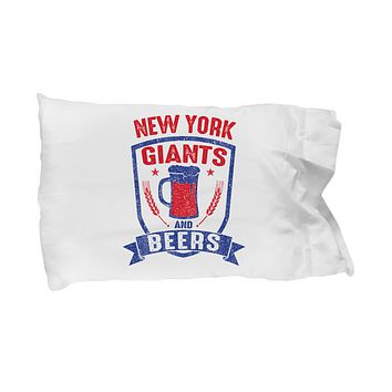 New York Football Funday Sunday And Beers Pillow