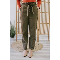 Can't Pass You By Pants - Dark Olive