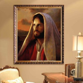 Jesus Christ Jesus Canvas Posters and Prints Wall Art Pictures for living room Home Decor cuadros decoracion Oil painting 16