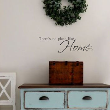 Family Vinyl Wall Decal -There's no place like Home - Vinyl Wall Decal Lettering