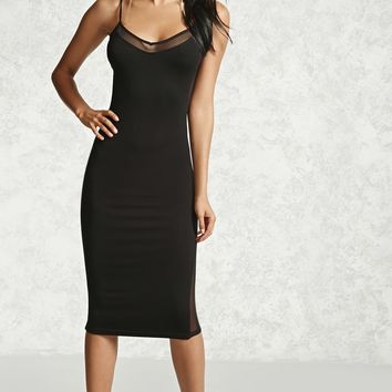 Sheer Mesh Cami Dress
