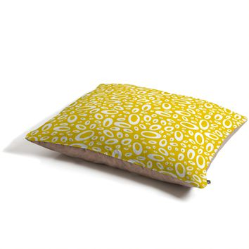 Heather Dutton Molecular Yellow Pet Bed