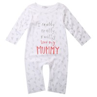 Baby Infant Boy Girl Newborn Cotton Love Mom Dad Clothes Jumpsuit baby rompers cute unisex baby clothes baby clothing jumpsuits