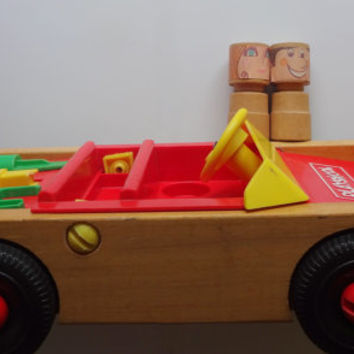 Vintage Playskool Take-Apart Toy Car 1972