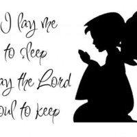 Now I Lay Me Down To Sleep - Children's Decal - UK Seller | Luulla