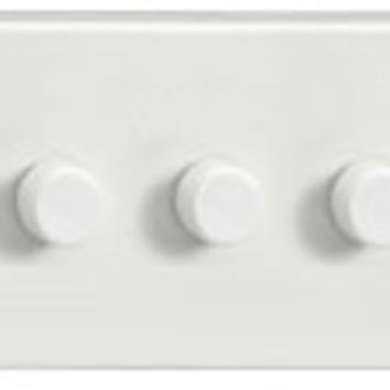 3 Gang 2-Way Push-on Push-off Dimmer suitable for 1-10 LEDs (removes buzzing when fitted with LEDs)