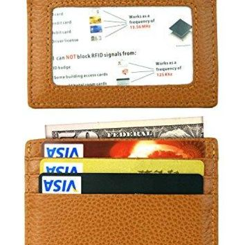 Slim Minimalist Thin Front Pocket RFID Blocking Leather Wallets for Men amp Women