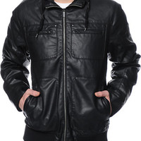 Dravus Maldon Black Faux Leather Jacket