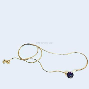 Red Stone Flowery Necklace 18Kts of Gold Plated Necklace