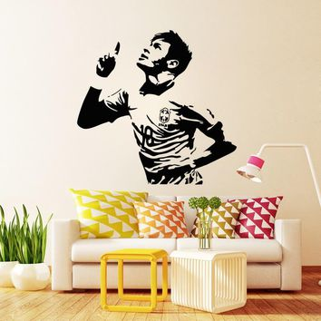 Football Player Neymar da Silva Vinyl Wall Decal Soccer Athlete Stickers Home Decor Living Room Art Mural Wallpaper