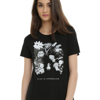 Disney Alice In Wonderland Flowers Girls T-Shirt