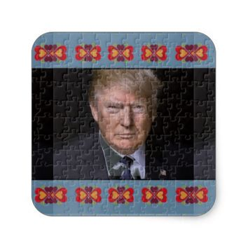 Trump Love Square Sticker