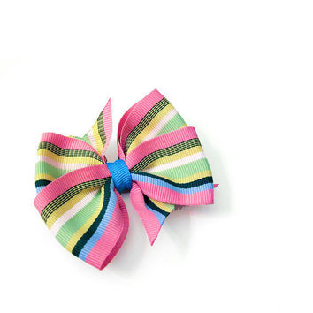 Preppy Double Pinwheel Bow 3 inch Boutique Bow by MySweetieBean
