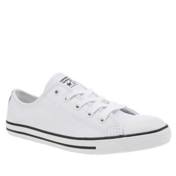 Womens White Converse All Star Dainty Leather Trainers