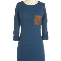 ModCloth Rustic Mid-length 3 Sweater Dress Contrast You a Question Dress