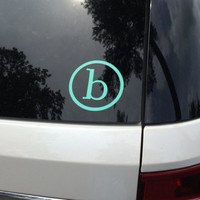 Initial Car Decals, Personalized Car Decals, Initial Car Sticker, Monogram Sticker, Monogram Decal, Car Sticker