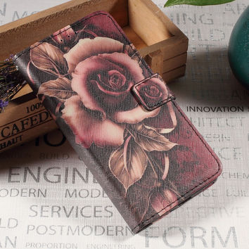 For Huawei P10 Plus Case Callfree Pattern Printing Wallet Leather Stand Cover for Huawei P10 Plus - Gothic Rose