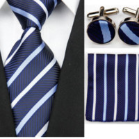 Matching Tie, Pocket Square, & Cuff Link Sets!