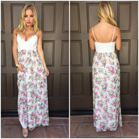 Garden Of Eden Crochet Maxi Dress