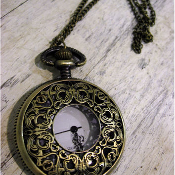 From Times Past Ornate Pocket Watch by sodalex on Etsy