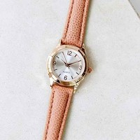 Classic Round Watch - Tan One