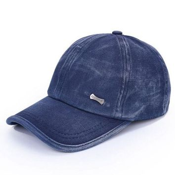 LMF78W 1 Pcs 2016 New Water Washing Copper Standard Baseball Caps Spring Summer Beach Hats For Women And  Men Snapback 5 Colors