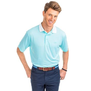Carlisle Bay Stripe Performance Polo in Crystal Blue by Southern Tide