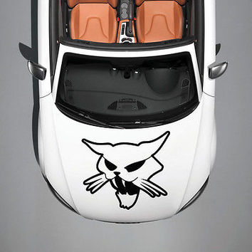 WICKED EVIL CAT ANIMAL ART DESIGN MURALS HOOD CAR VINYL STICKER DECALS SV1232