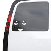 """Auto Car Sticker Decal Sexy Woman Face Eyelashes Eyes Lips Truck Laptop Window 6.6"""" by 5"""" Unique Gift 898igc"""