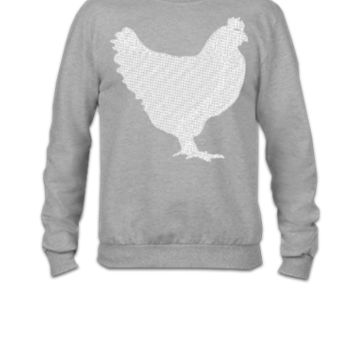 Chicken Embroidery - Crewneck Sweatshirt