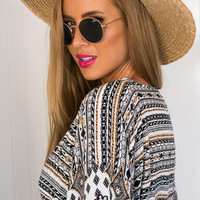 Nikki Straw Brim Hat - Ace of Something