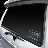 Seattle Seahawks Chrome Window Graphic Decal