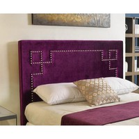 Jewel Tone Majesty Nailhead Boho Headboard