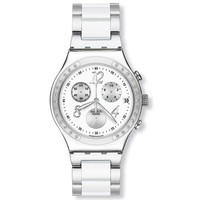Swatch YCS511G Men's Dreamwhite Stainless steel White Dial Chronograph Watch