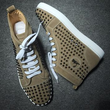 Cl Christian Louboutin Louis Spikes Style #1846 Sneakers Fashion Shoes