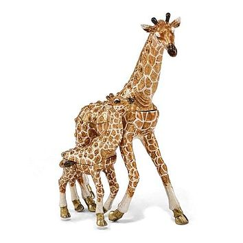 Gorgeous Giraffe Mother with Baby Jewelry Box