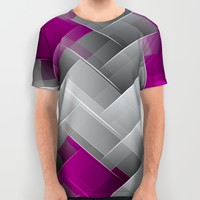 Hot Pink Geo All Over Print Shirt by ALLY COXON | Society6