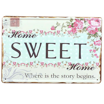 [SWEET] Vintage Home/Cafe/Bar Wall Hanging Metal Painting Wall Decoration