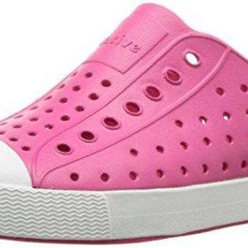 Native Kids Jefferson Junior Water Proof Shoes, Hollywood Pink/Shell White, 1 Medium US Little Kid