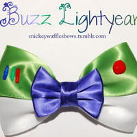 Buzz Lightyear Hair Bow by MickeyWaffles on Etsy