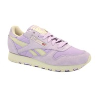 Reebok Classic Leather Pastel V45287 Womens Laced Suede Trainers Purple