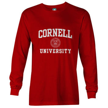 Cornell Crest Long Sleeve T-Shirt (Red)