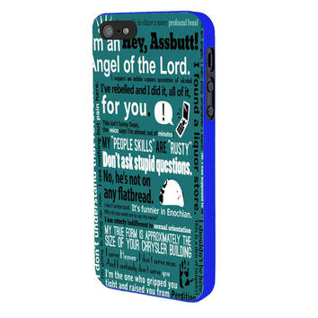 Supernatural Castiel iPhone 5 Case Available for iPhone 5 iPhone 5s iPhone 5c iPhone 4/4s