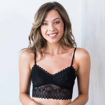 Long Line Bralette with Lace