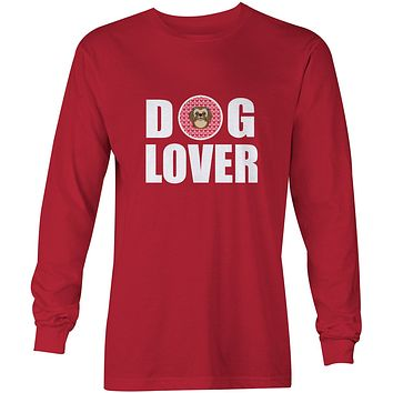 Chocolate Brown Shih Tzu Dog Lover Long Sleeve Red Unisex Tshirt Adult Medium BB5319-LS-RED-M