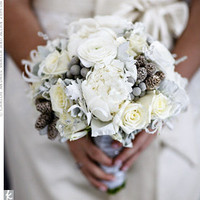 Real Weddings - Melissa & Sean: A Winter Wedding in Lake Success, NY - The Bridal Bouquet